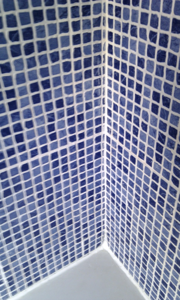 Ceramic Mosaics in shower After