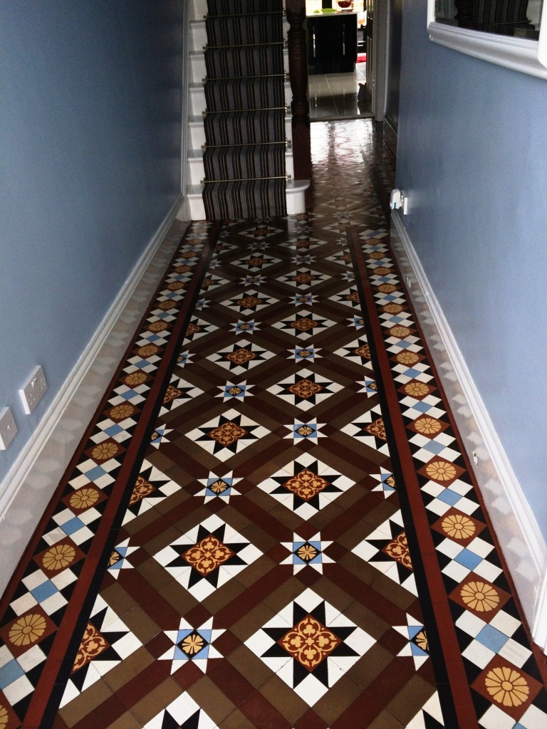 Sealing victorian tiles cleaning and maintenance advice for victorian tiled floor chippenham after cleaning and sealing doublecrazyfo Gallery