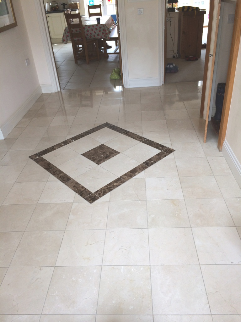Marble Tiled Floor Trowbridge After