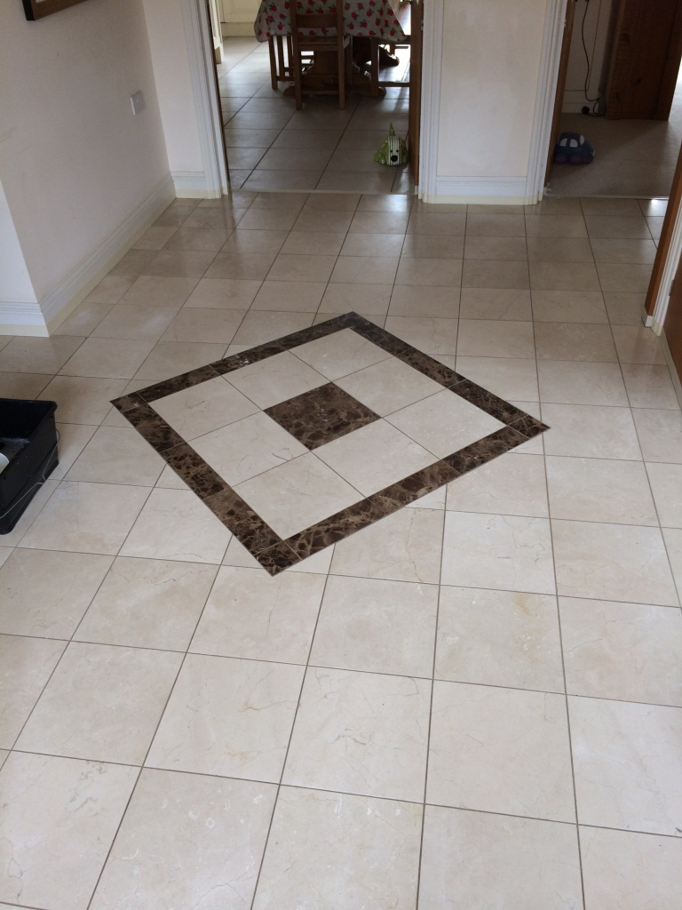 Marble Tiled Floor Trowbridge Before