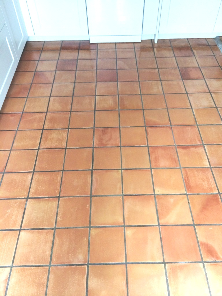 Quarry Tiles in Sherston After Cleaining