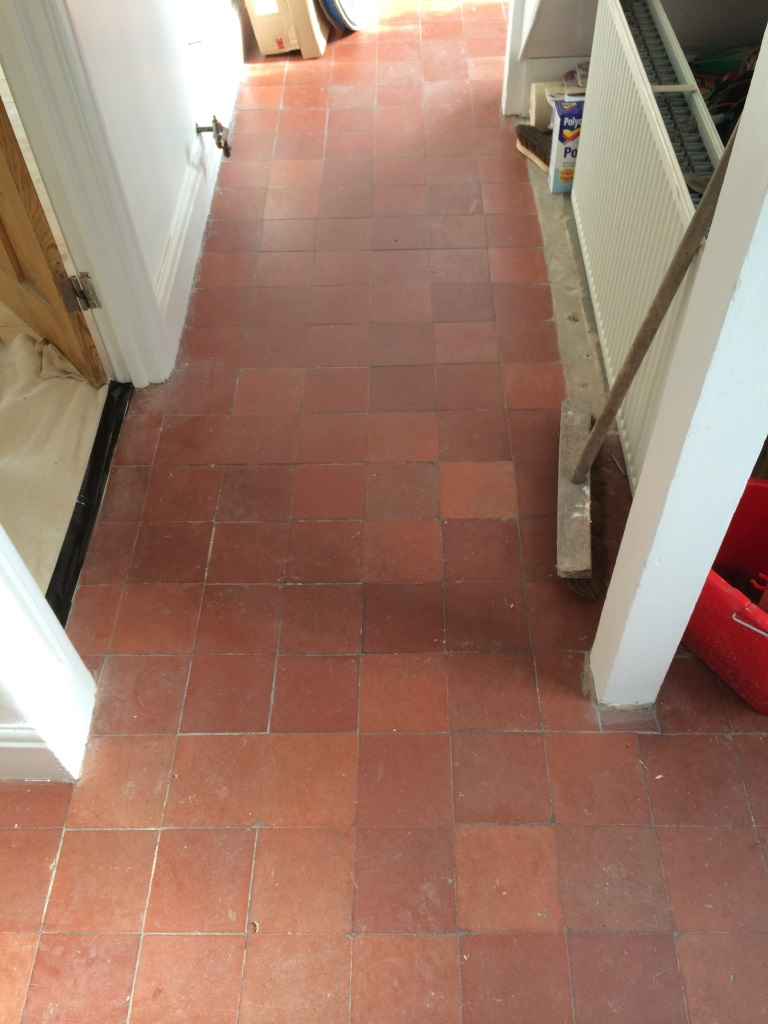 Quarry Tiles Swindon Before Cleaning