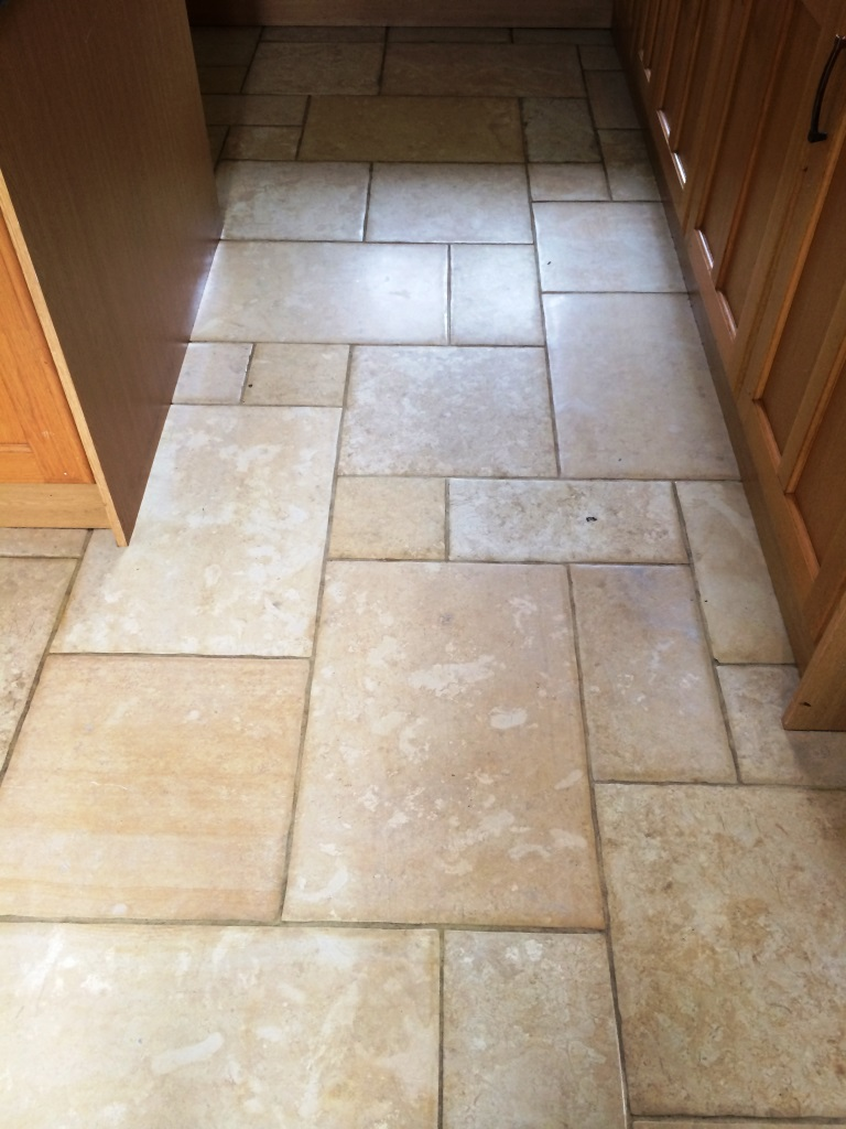 Limestone Or Travertine Tile : Limestone and travertine floor restored in nunton