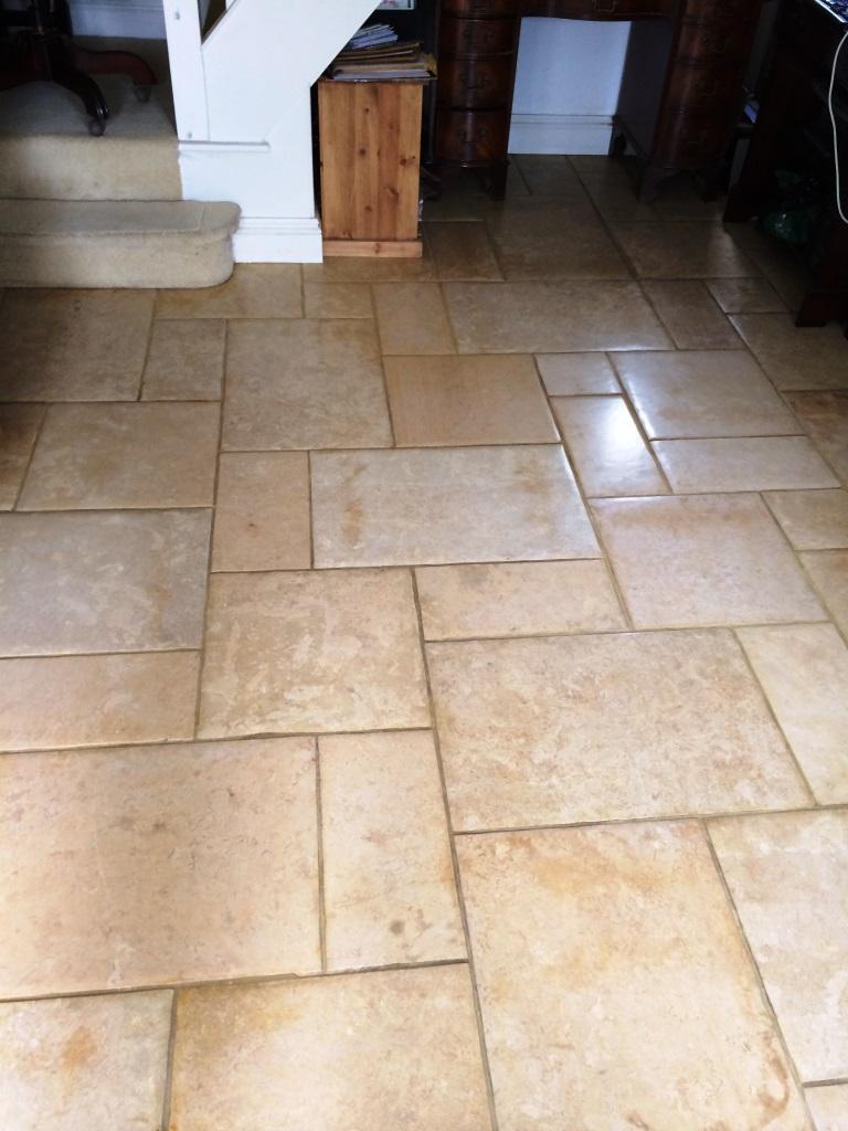 Limestone Floor Restored in Nunton After