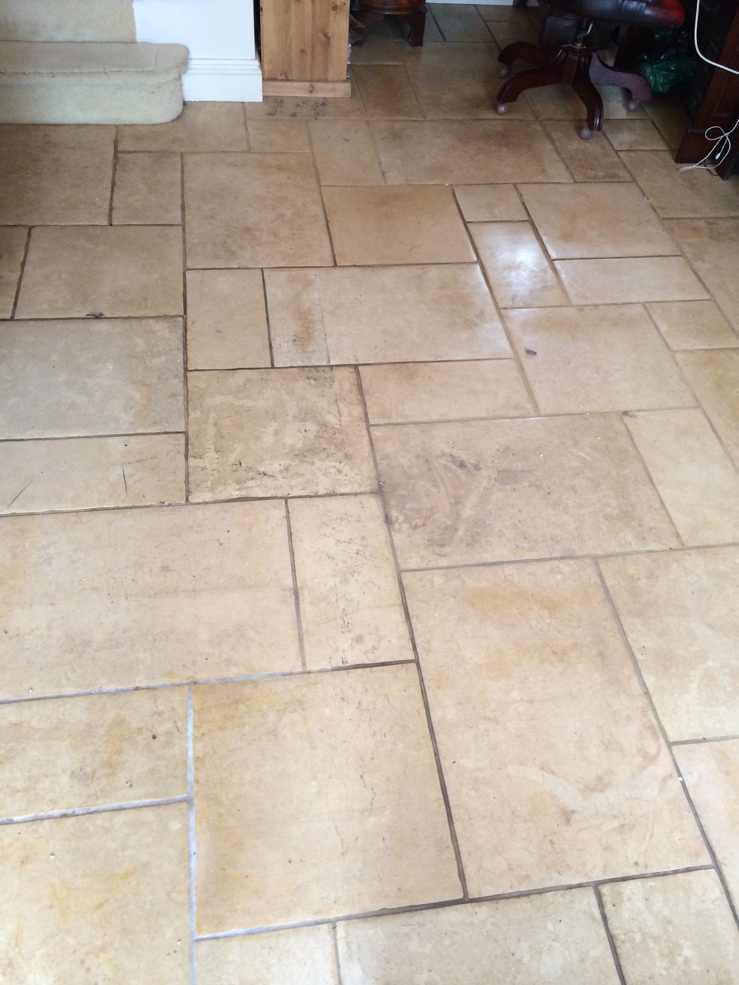 Limestone Floor Restored in Nunton Before