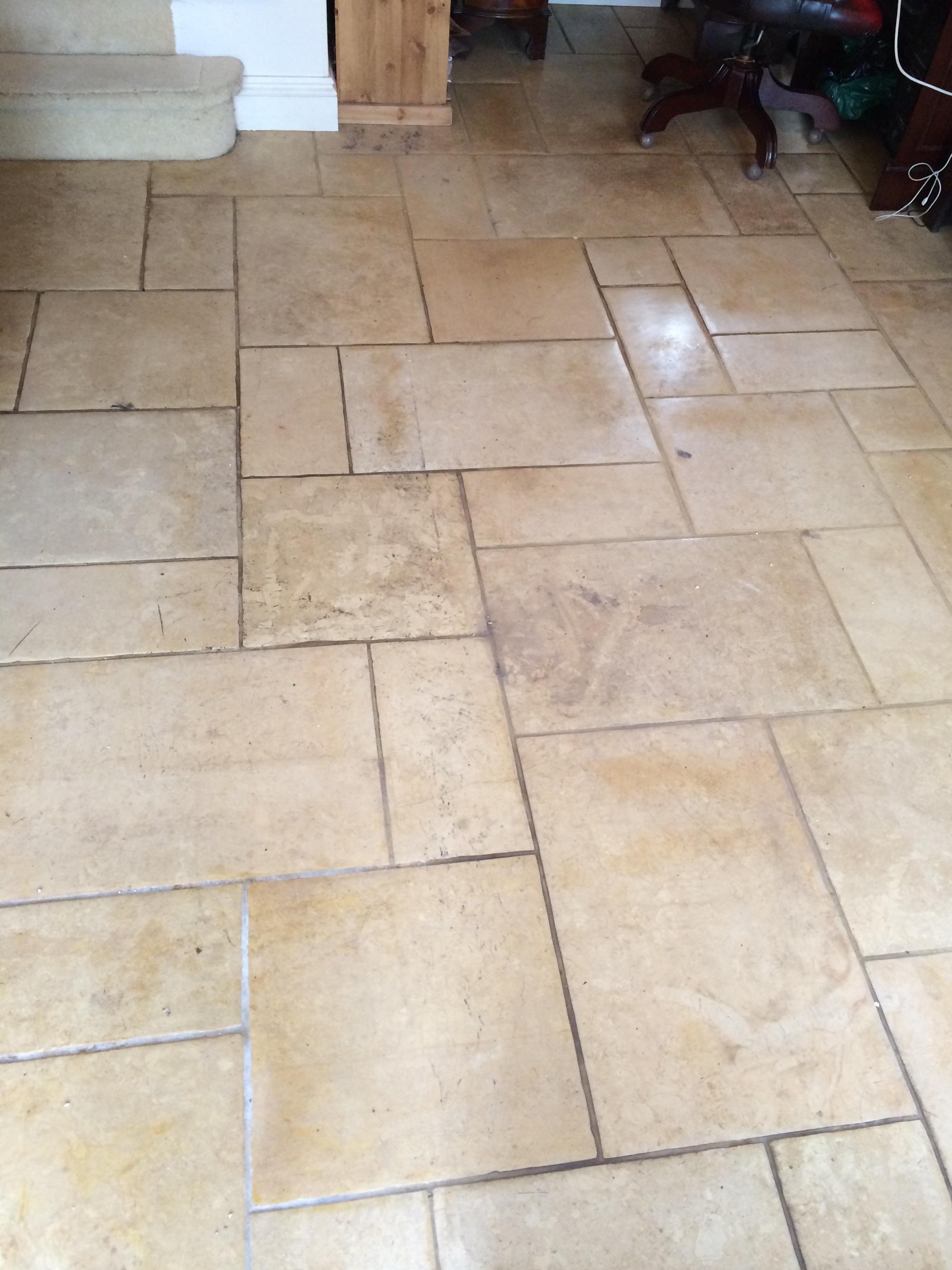 Limestone Floor Restored in Nunton Before