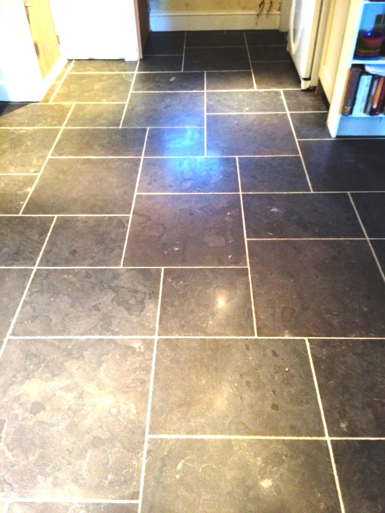 Black Limestone Tiles Fovant After Cleaning
