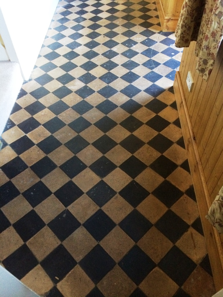 Cleaning and Sealing Quarry Tiles in Brinkworth Before