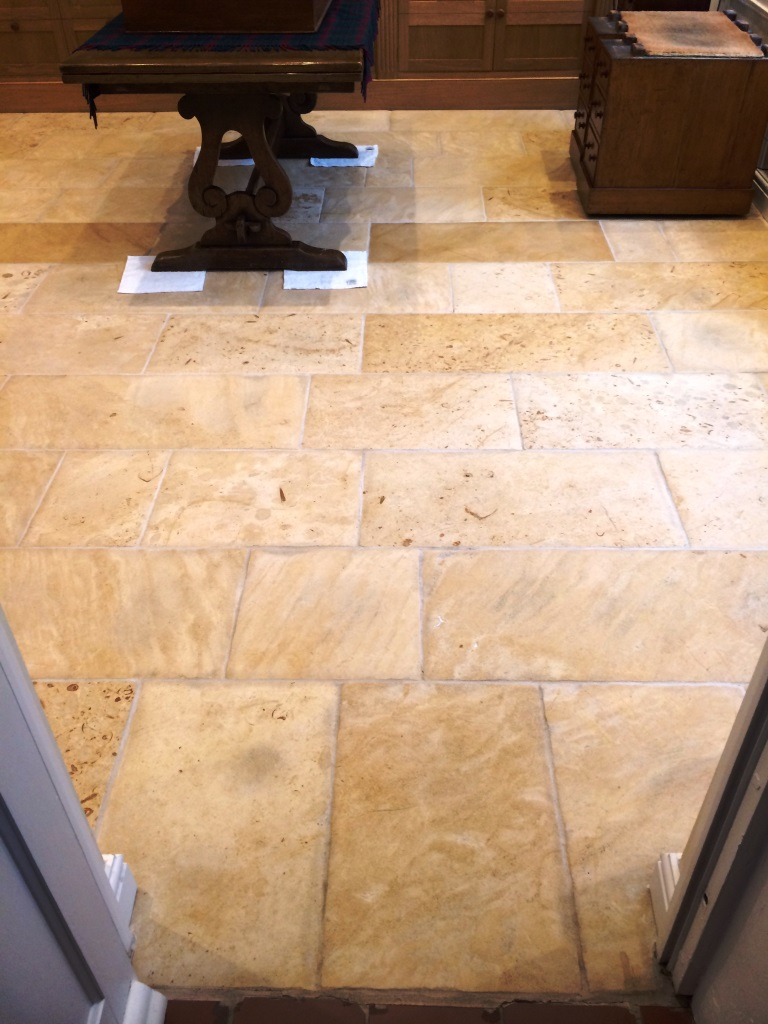 Honed Limestone After Cleaning and Sealing in Marlborough