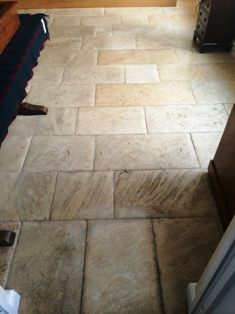 Honed Limestone Before Cleaning in Marlborough