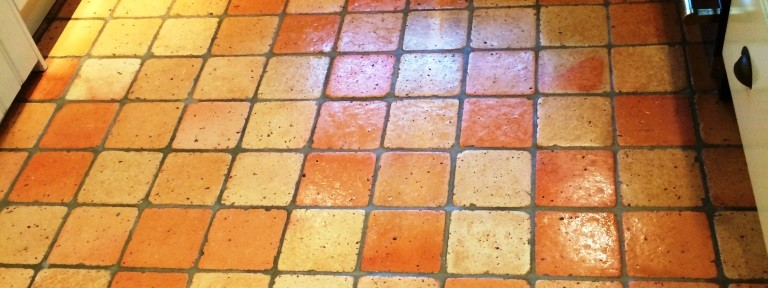 Deep Cleaning a Terracotta Kitchen Floor in Burbage