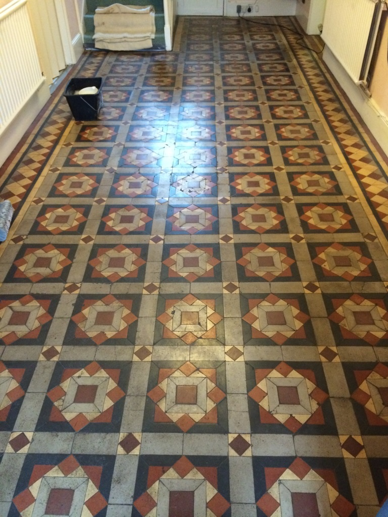 Original Victorian Tiles Melksham Before Cleaning
