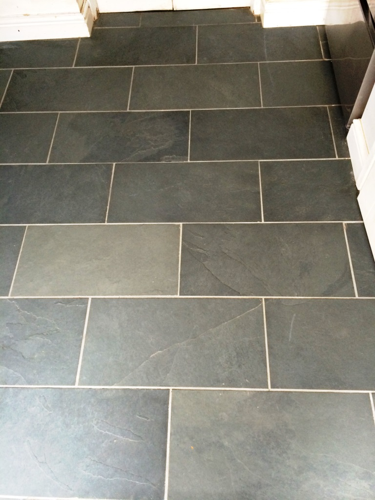 Slate Floor Malmesbury After Cleaning
