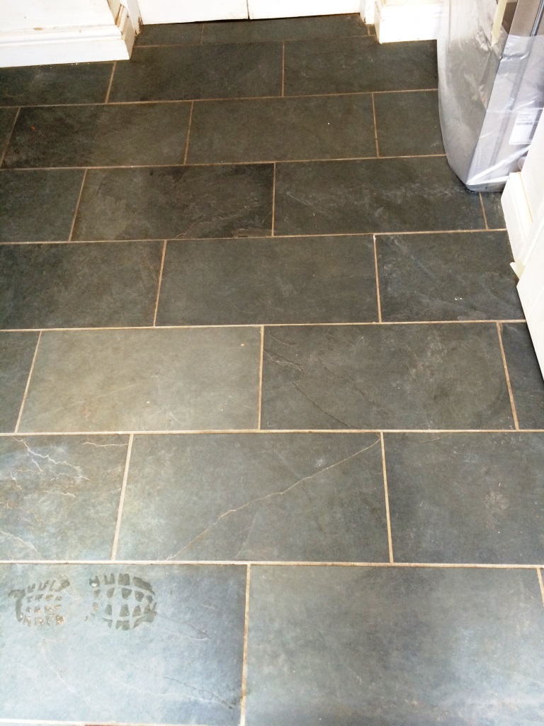 Slate Floor Malmesbury Before Cleaning