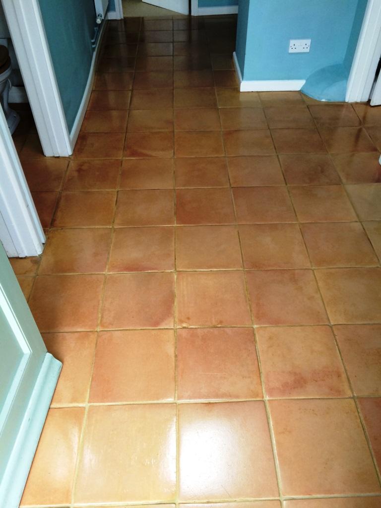 Terracotta Tiled Floor Urchfont Sealed
