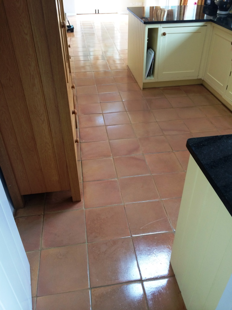 Terracotta Tiled Floor Urchfont Sealed