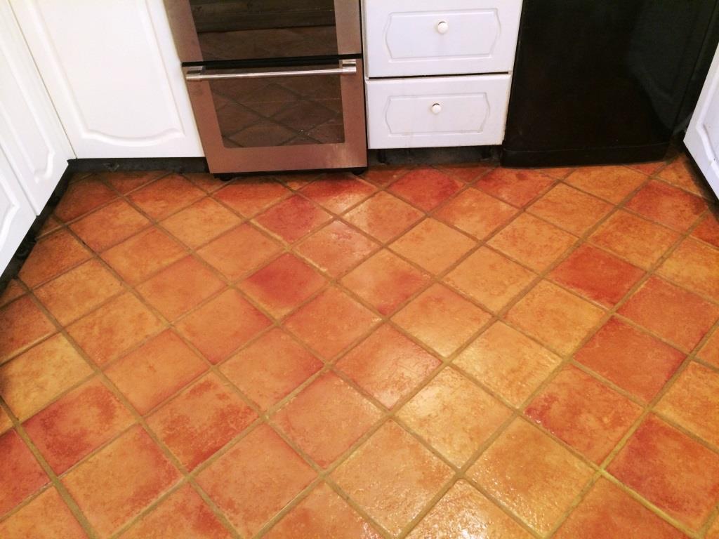 Terracotta Tiled Floor After Sealing in Osbourne St. Georges