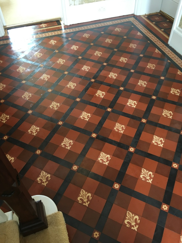 Victorian Floor Found Under Carpet After Restoration in Warminster