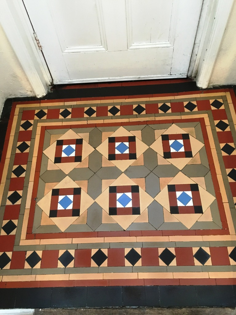 Victorian Tiled Lobby After Cleaning in Swindon