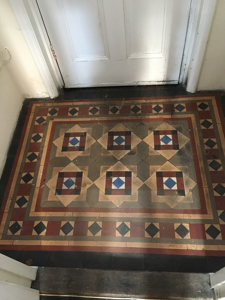Victorian Tiled Lobby Before Cleaning in Swindon