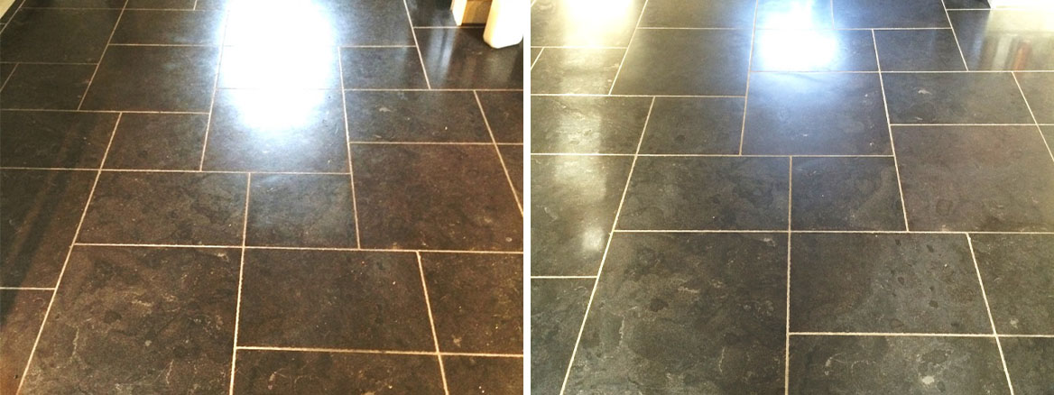 Changing the Appearance of Black Limestone Tiles in Fovant