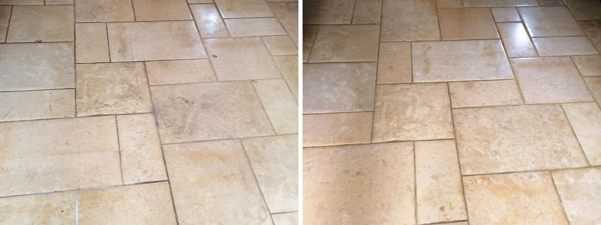 Limestone and Travertine Floor Restored in Nunton