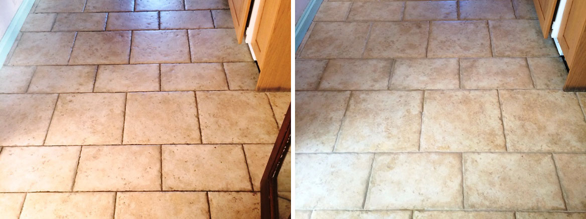 Deep Cleaning Textured Porcelain Tiles in a Salisbury