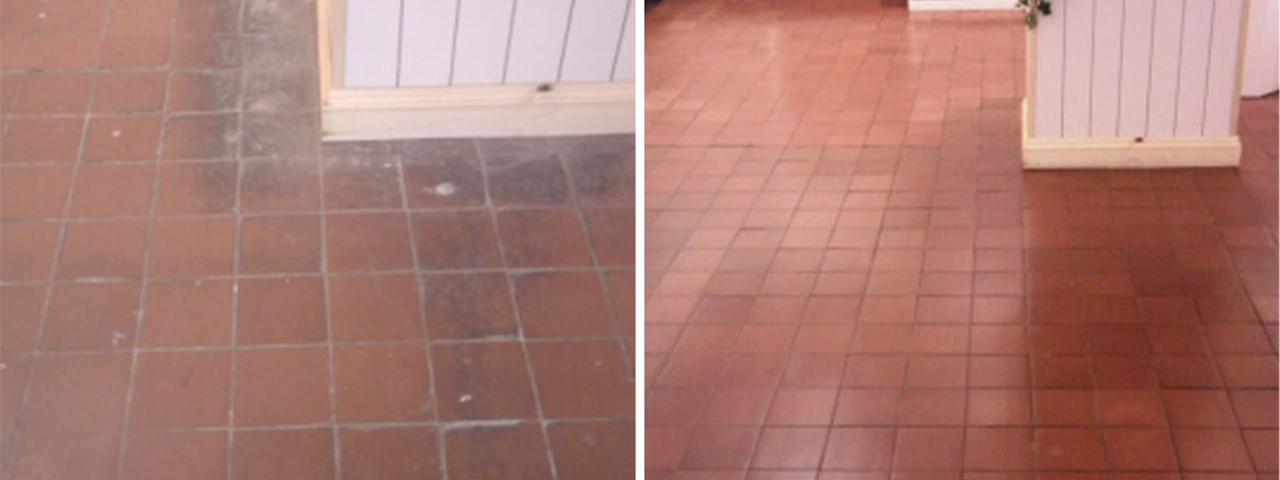 Quarry Tiles Before and After