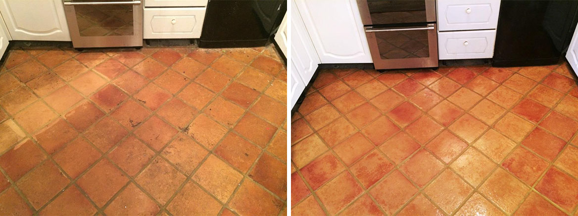Cleaning & Sealing Terracotta Tiles in Osbourne St. Georges