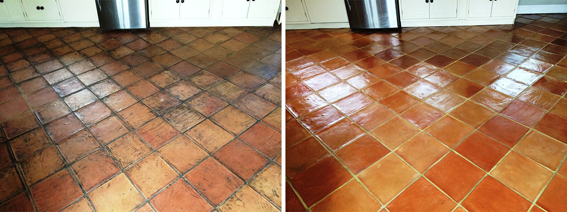 Deep Cleaning Terracotta Kitchen Tiles in Salisbury