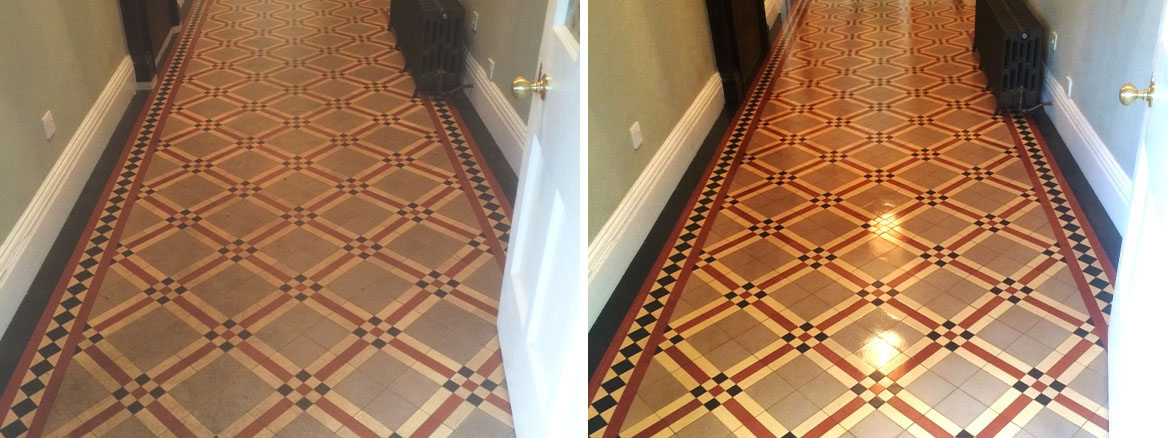 Cleaning & Sealing a Victorian Tiled Hallway in Heytesbury