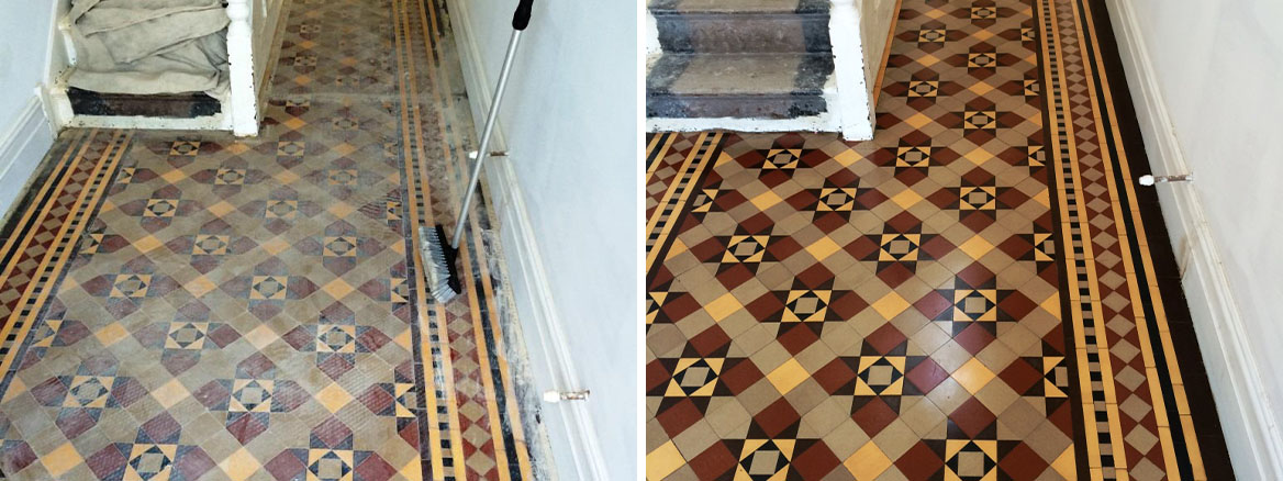 Victorian Tiled Hallway Floor Restored in Holt